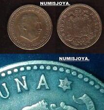 ESTADO ESPAÑOL FRANCO. ESCASA moneda de 1 Peseta año 1953*1954. CIRCULADA.