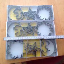 3 x 5 stk orig betty bossi ausstechformen groß Plätzchenform Sonne Mond Sterne