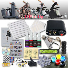 Professional Complete Tattoo Machine Kit 1 Gun 4 Color Inks Power Supply Set