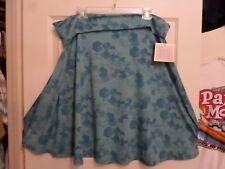 NWT~3XL~LuLaRoe Azure Skirt~Fold Over Waist~Poly/Spandex~Knee~Flare~Patterned