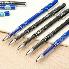 0.5mm Ink Blue Gel Pen Office Stationery Erasable Pens Ballpoint Student Tool