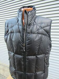 REI Men's Solid Black Quilted Goose Down Puffer Vest Size Large Zip Front
