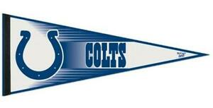 Indianapolis Colts 12x30 Standard Felt Pennant (NEW) NFL Sign Banner Wall Cave