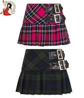 Hell Bunny Chelsy Tartan Mini Skirt Micro Pleated Check Kilt Punk Alternative
