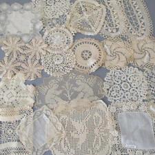 Lot 20 Antique Handmade LACE Doilies w MUSEUM Tags MALTESE Irish Crochet CANTU +
