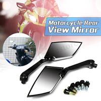 8mm 10mm Universal Motorcycle Rear View Side Mirrors For Honda Yamaha Suzuki