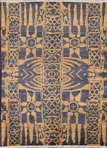 Geometric Gabbeh Kashkoli Afghan Area Rug Hand-knotted Home Decor 5'x7' Carpet