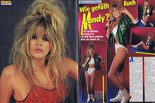 Zwei Mandy Smith Seiten Zeitungsausschnitt Clip mini Poster 80er süße Blondine