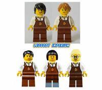 Lego City Minifigures - Barista - male female coffee minifig FREE POST
