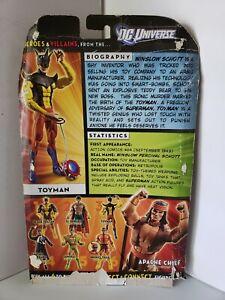 Toyman DC Universe Classics Wave 18 Cardback 2010 Mattel Apache Chief BAF