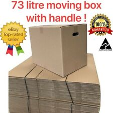 20xMoving Cardboard Packing Boxes 73Litres Cartons With Handles-Same day Post