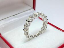 3.37 Ct Diamond Wedding Party Bridal Enternity Band Rings 14K White Gold Size 7