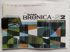 Bronica S2 instruction book Reprint