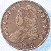 1823 CAPPED BUST HALF DOLLAR, TOUGH EARLY DATE, SHARP!
