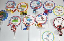 24 Cat in the Hat Thing 1 2 Birthday Baby Shower party favors 2in swirl Lollipop
