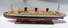 """Ss Ile De France French 1926 Ocean Liner Model 38"""" Museum Quality Scale 1:250"""