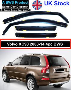 VOLVO XC90 MK1 Suv 2003-2014 4pc Branded BWS Wind Deflectors UK Stock