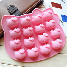 New Silicone DIY 16-Cats Ice Cube Chocolate Cake Cookie Candy Mold