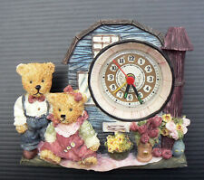 Teddy Bear Clock 3D Nursery Decor Ornament Kids Room Bedroom Baby VIntage Unused