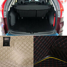 PU Leather Rear Trunk Cargo Liner Protector Mat Seat Back Cover For Honda CRV
