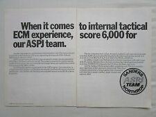 11/1980 PUB NORTHROP SANDERS ASPJ AN/ALQ-165(V) ECM NAVY AIR FORCE ORIGINAL AD