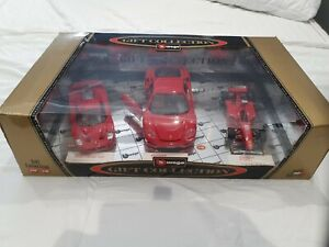 RARE BBURAGO GIFT SET OF 3 CARS 1/18 1/24 SCALE