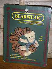 Boyds Bears 1997 ~J.B. & The Basketballs~ Bearwear Pin Style#26100