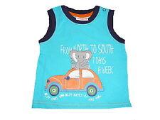 NEU Liegelind süßes T-Shirt / Top Gr. 68 blau mit Elefant und Automotiv !!