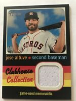 2020 Topps Heritage High Number Clubhouse Collection Relic Jose Altuve #CCR-JA