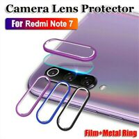 For Xiaomi Redmi Note 7 Back Camera Protector Lens Case Ring Cover & Glass Film