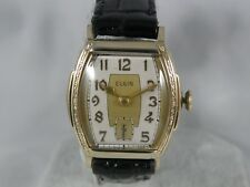 ELGIN 1930`S SERVICED   MEN`S WRISTWATCH.....4/0s MOVEMENT .....EXTREMELY CLEAN