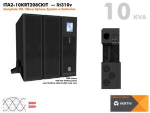 lit310v~ Vertiv Liebert ITA2 3phase 10kva Online UPS ITA2-10KRT208C 3U #NewBatts