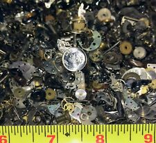VINTAGE WATCH PARTS STEAMPUNK GEARS JEWELRY CRAFT SCRAP BOOKING**10 GRAMS** !!!