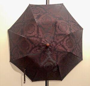 Versace Maroon Vintage Automatic Telescope Umbrella. RRP: £355