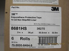 """3M HELICOPTER POLYURETHANE PROTECTIVE TAPE 2"""" x 1 YARD 8681HS 36270 Light Grey -"""