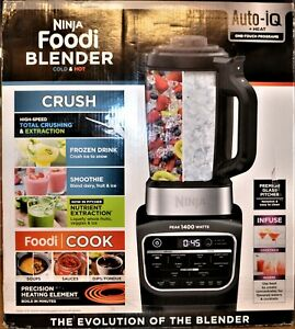 Ninja Foodi Auto-IQ Cold & Hot Blender - Stainless Steel/Black - HB100 - NEW