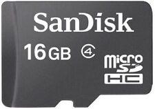 SanDisk 16GB microSD 16G microSDHC micro SD SDHC Class 4 C4 TF Flash Card *W/O A