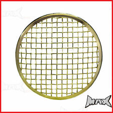 "7"" Brass Chrome Mesh Headlight Stone Cover Guard Metal Insert Protector"