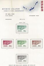 Collection of  Air Mail BOB Possession Stamp Sheets From Ryukyu Islands