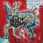 """26W""""x26H"""" RED RABBIT, 1982 by JEAN-MICHEL BASQUIAT - GRAFFITI CHOICES of CANVAS"""