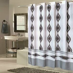 """Carnation Home Shower Stall-Sized EZ-ON® """"Harlequin"""" Polyester Shower Curtain"""