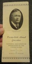 1926 National Association Of Postmasters Of The United States Convention program