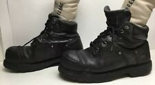 VTG MENS TIMBERLAND PRO STEEL TOE EH WORK BLACK BOOTS SIZE 12 M