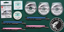 3 spools 10 ft Tenkara Furled Leaders, 2mm Micro Tippet Rings, 4X Tippet set #27