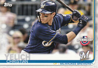 2019 TOPPS OPENING DAY CARD - # 39 - CHRISTIAN YELICH - MILWAUKEE BREWERS