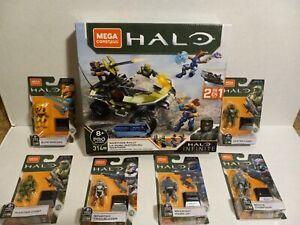 Mega Construx Halo Bundle Lot of 7 Infinite Warthog Rally + 6 Figures!!!
