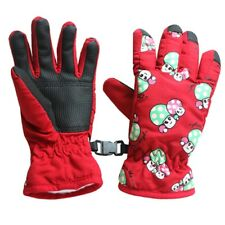 Paar Anti Rutsch 2-4 Jahre Kinder Ski Skaten Handschuhe(Rot) O3B1 P0D7