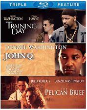 TRAINING DAY / THE PELICAN BRIEF / JOHN Q  -  Blu Ray - Sealed Region free
