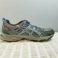 ASICS GEL-VENTURE 5~ MEN'S GRAY & BLUE TRAIL RUNNING SHOES SIZE 11