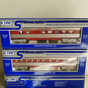 Two K-LINE Texas Special Passenger Cars<+>K4540-1100<+>K4540-1502<+>NIB in BOXES